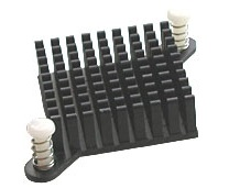 Pin Fin heat sink with Push Pin attachment 10-6327-01G